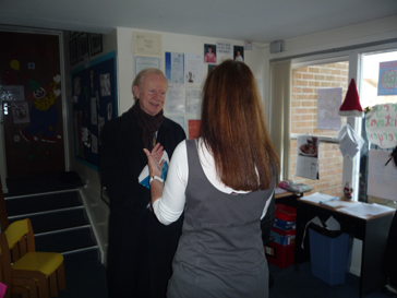 Sir Reg Empey with Linda Chambers of BWC