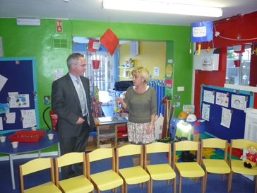 Alex Attwood MLA visits pre-school at BWC