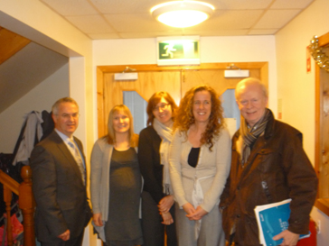 Alex Attwood MLA with staff of BWC and Sir Reg Empey