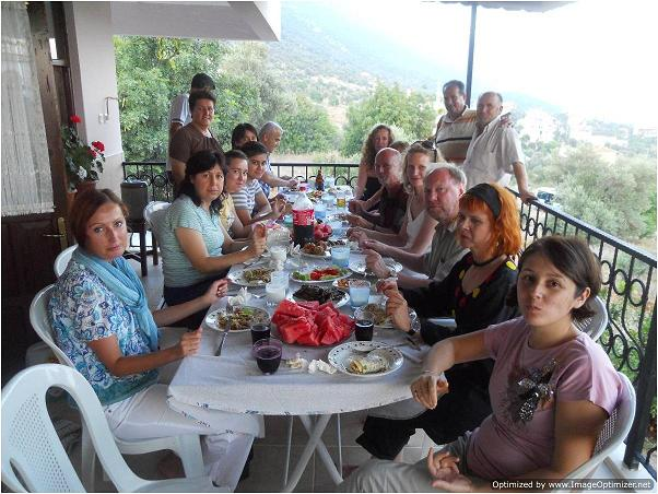 Staff from BWC at final visit to Kas, Turkey